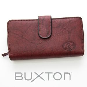 NWOT Buxton Heiress Ensemble Clutch Wallet Leather